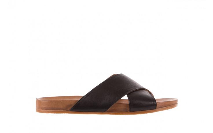 Klapki bayla-163 17-183 black, czarny, skóra naturalna  - klapki - letnie hity cenowe