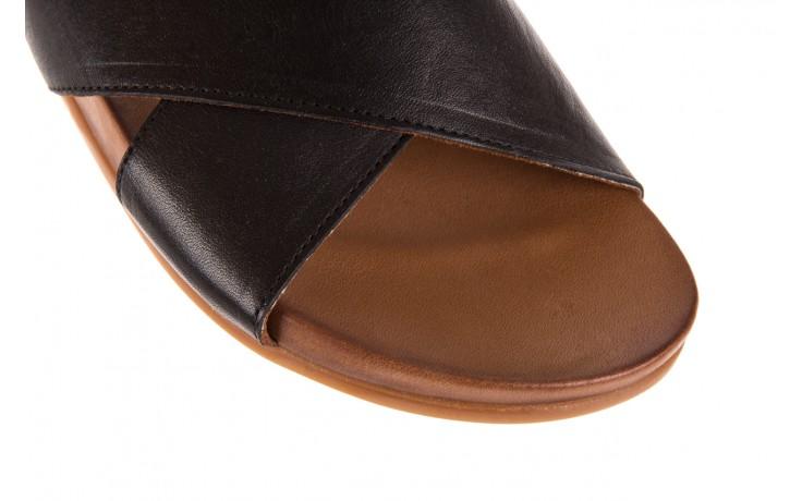 Klapki bayla-163 17-183 black, czarny, skóra naturalna  - klapki - letnie hity cenowe 5