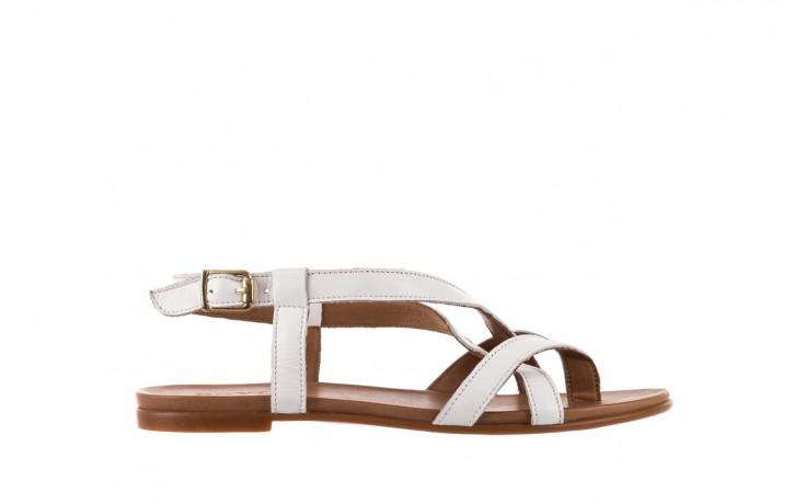 Sandały bayla-163 17-131 riga, biały/brąz, skóra naturalna  - japonki - sandały - buty damskie - kobieta