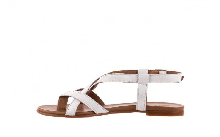Sandały bayla-163 17-131 riga, biały/brąz, skóra naturalna  - japonki - sandały - buty damskie - kobieta 2