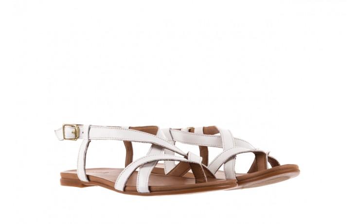 Sandały bayla-163 17-131 riga, biały/brąz, skóra naturalna  - japonki - sandały - buty damskie - kobieta 1