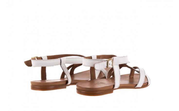 Sandały bayla-163 17-131 riga, biały/brąz, skóra naturalna  - japonki - sandały - buty damskie - kobieta 3