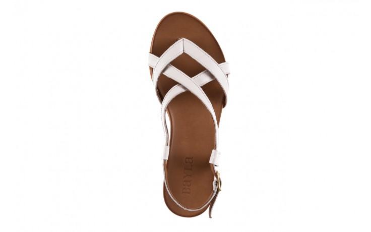 Sandały bayla-163 17-131 riga, biały/brąz, skóra naturalna  - japonki - sandały - buty damskie - kobieta 4