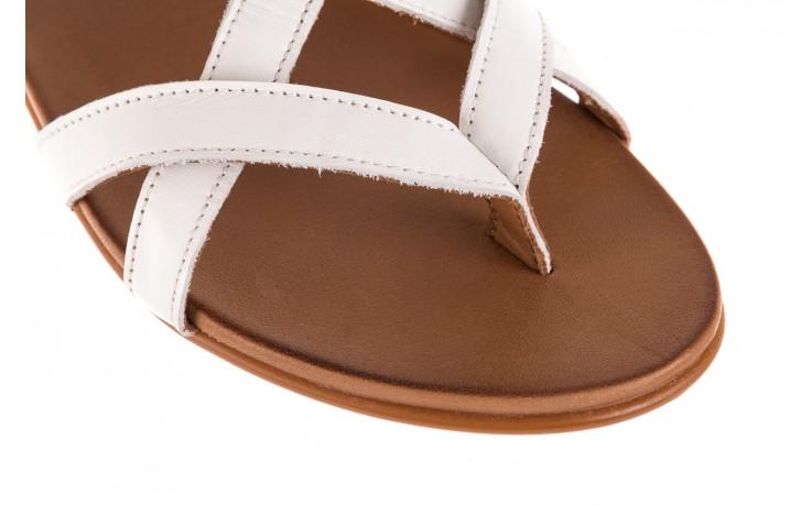 Sandały bayla-163 17-131 riga, biały/brąz, skóra naturalna  - japonki - sandały - buty damskie - kobieta 5