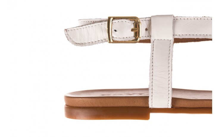 Sandały bayla-163 17-131 riga, biały/brąz, skóra naturalna  - japonki - sandały - buty damskie - kobieta 6