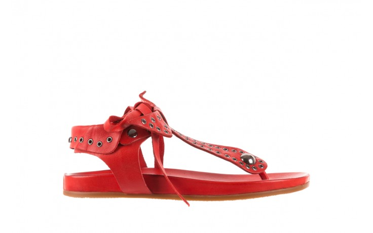 Sandały bayla-163 17-178 red, czerwony, skóra naturalna  - japonki - sandały - buty damskie - kobieta