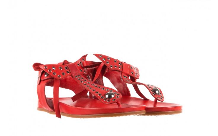 Sandały bayla-163 17-178 red, czerwony, skóra naturalna  - japonki - sandały - buty damskie - kobieta 1