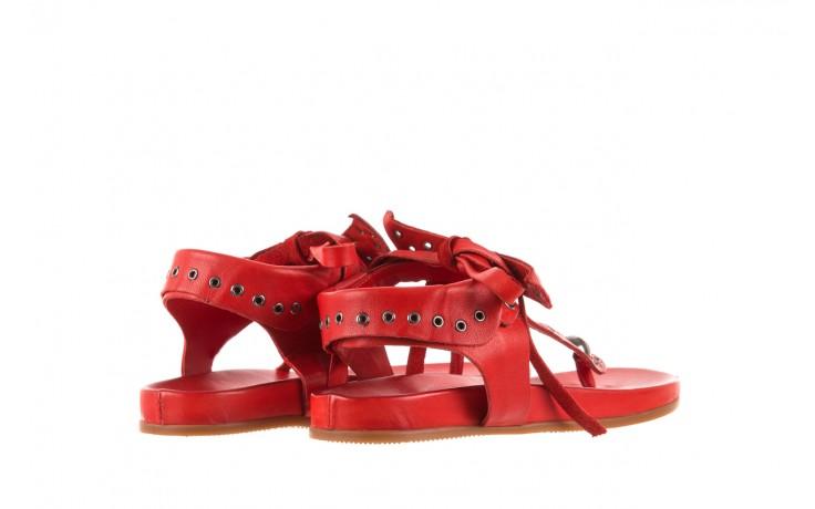 Sandały bayla-163 17-178 red, czerwony, skóra naturalna  - japonki - sandały - buty damskie - kobieta 3