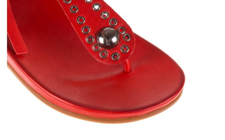 Sandały bayla-163 17-178 red, czerwony, skóra naturalna  - japonki - sandały - buty damskie - kobieta 6