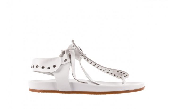 Sandały bayla-163 17-178 riga, biały, skóra naturalna  - japonki - sandały - buty damskie - kobieta