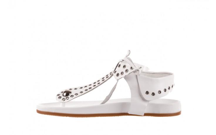 Sandały bayla-163 17-178 riga, biały, skóra naturalna  - japonki - sandały - buty damskie - kobieta 2