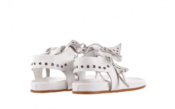 Sandały bayla-163 17-178 riga, biały, skóra naturalna  - japonki - sandały - buty damskie - kobieta 3