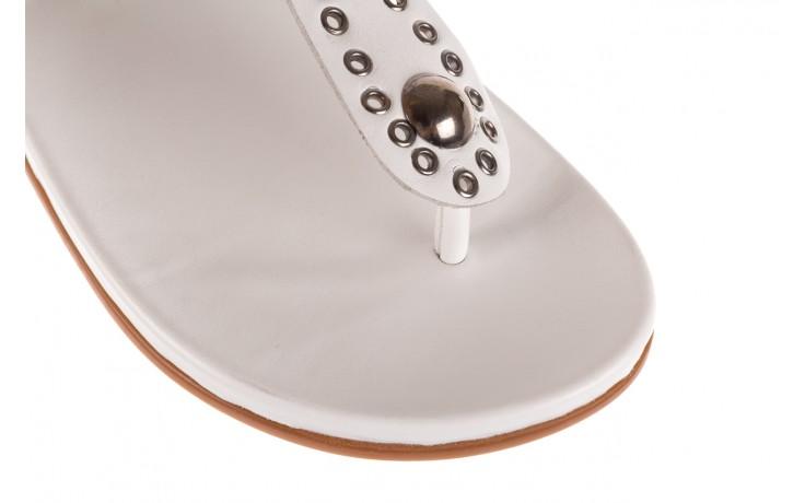 Sandały bayla-163 17-178 riga, biały, skóra naturalna  - japonki - sandały - buty damskie - kobieta 6