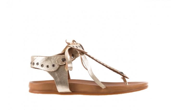 Sandały bayla-163 17-178 gold, złoty, skóra naturalna  - japonki - sandały - buty damskie - kobieta