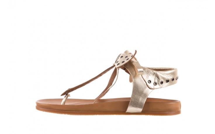 Sandały bayla-163 17-178 gold, złoty, skóra naturalna  - japonki - sandały - buty damskie - kobieta 2