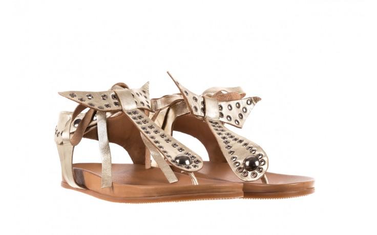 Sandały bayla-163 17-178 gold, złoty, skóra naturalna  - japonki - sandały - buty damskie - kobieta 1