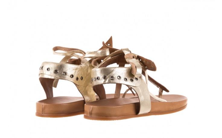 Sandały bayla-163 17-178 gold, złoty, skóra naturalna  - japonki - sandały - buty damskie - kobieta 3