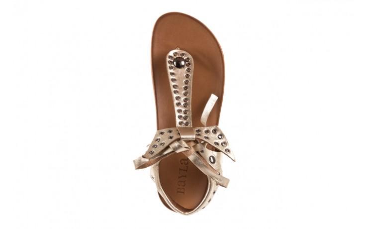 Sandały bayla-163 17-178 gold, złoty, skóra naturalna  - japonki - sandały - buty damskie - kobieta 4