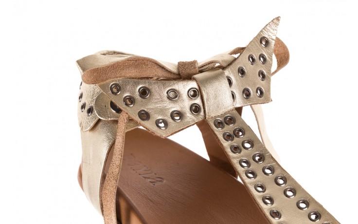 Sandały bayla-163 17-178 gold, złoty, skóra naturalna  - japonki - sandały - buty damskie - kobieta 5
