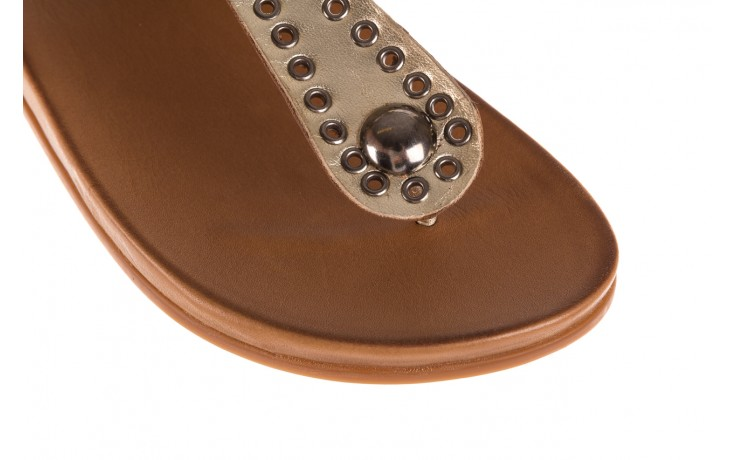 Sandały bayla-163 17-178 gold, złoty, skóra naturalna  - japonki - sandały - buty damskie - kobieta 6