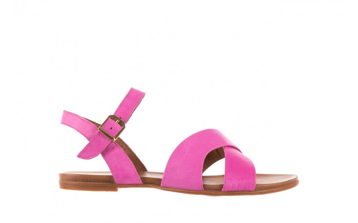 Sandały bayla-163 17-116 bead, róż, skóra naturalna  - bayla - nasze marki