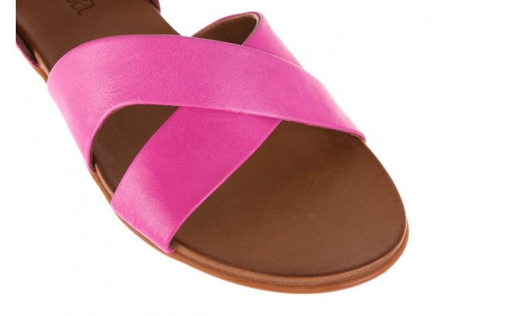 Sandały bayla-163 17-116 bead, róż, skóra naturalna 5