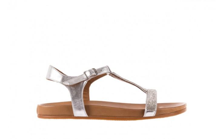 Sandały bayla-163 17-301 silver, srebrne, skóra naturalna