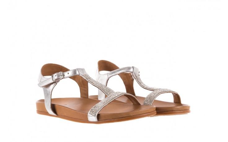 Sandały bayla-163 17-301 silver, srebrne, skóra naturalna 1