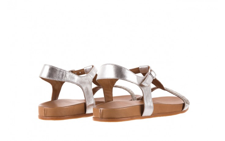 Sandały bayla-163 17-301 silver, srebrne, skóra naturalna 3