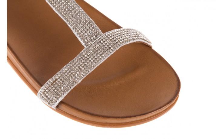 Sandały bayla-163 17-301 silver, srebrne, skóra naturalna 5