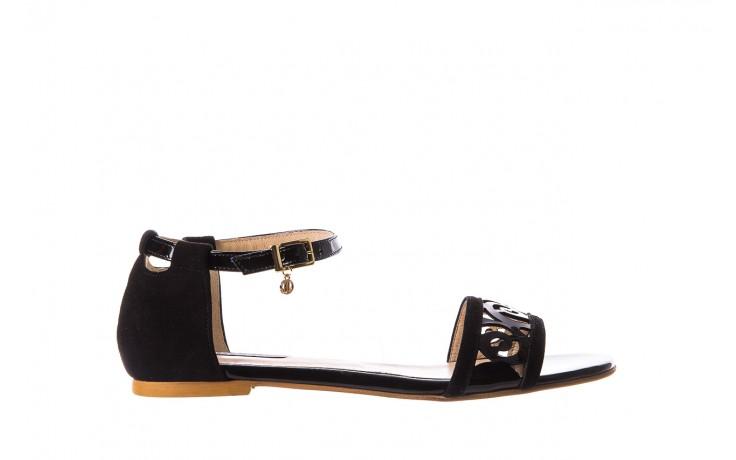 Sandały bayla-130 04278 000m-06 czarny z, skóra naturalna lakierowana - bayla - nasze marki