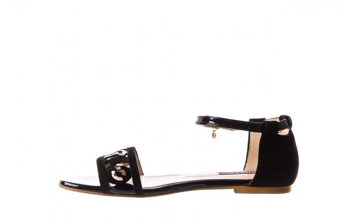 Sandały bayla-130 04278 000m-06 czarny z, skóra naturalna lakierowana - bayla - nasze marki 2