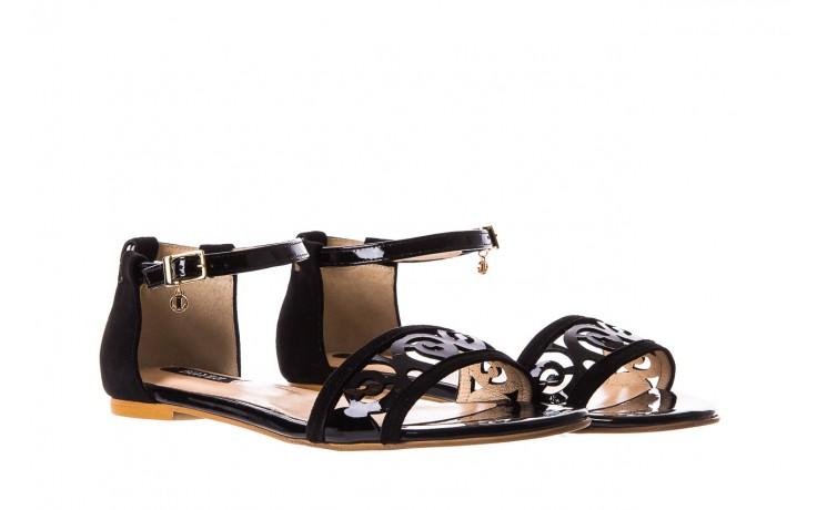 Sandały bayla-130 04278 000m-06 czarny z, skóra naturalna lakierowana - bayla - nasze marki 1