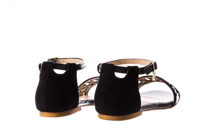Sandały bayla-130 04278 000m-06 czarny z, skóra naturalna lakierowana - bayla - nasze marki 3