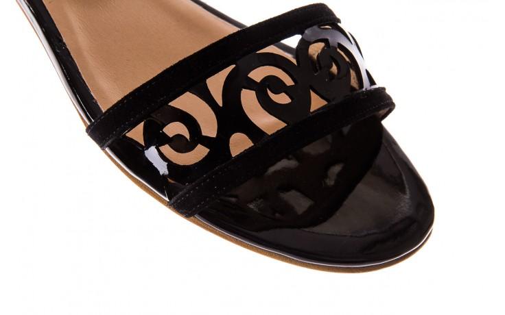 Sandały bayla-130 04278 000m-06 czarny z, skóra naturalna lakierowana - bayla - nasze marki 4