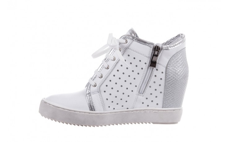 Sneakersy bayla-099 0656 biały, skóra naturalna  - bayla - nasze marki 2