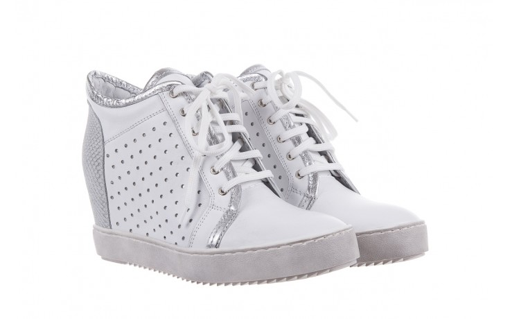Sneakersy bayla-099 0656 biały, skóra naturalna  - bayla - nasze marki 1