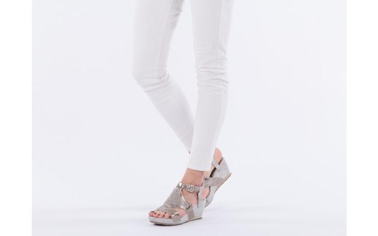 Sandały bayla-131 2714 platino, srebrny, skóra naturalna  - bayla - nasze marki 6