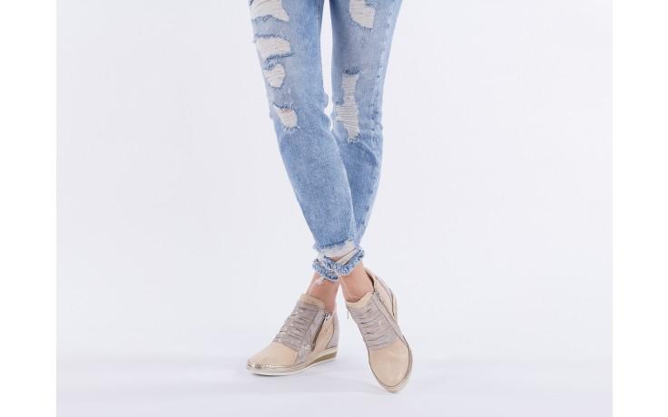 Sneakersy bayla-131 7107 deserto, beż/szary, skóra naturalna  - bayla - nasze marki 6