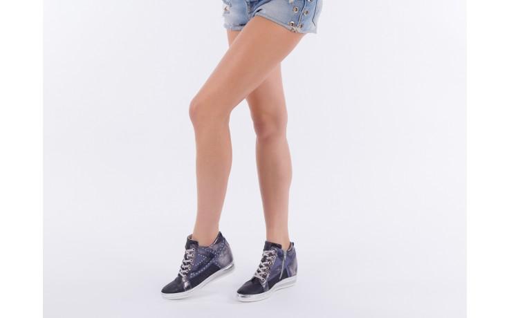 Sneakersy bayla-131 7113 oceano, granat, skóra naturalna  - bayla - nasze marki 6