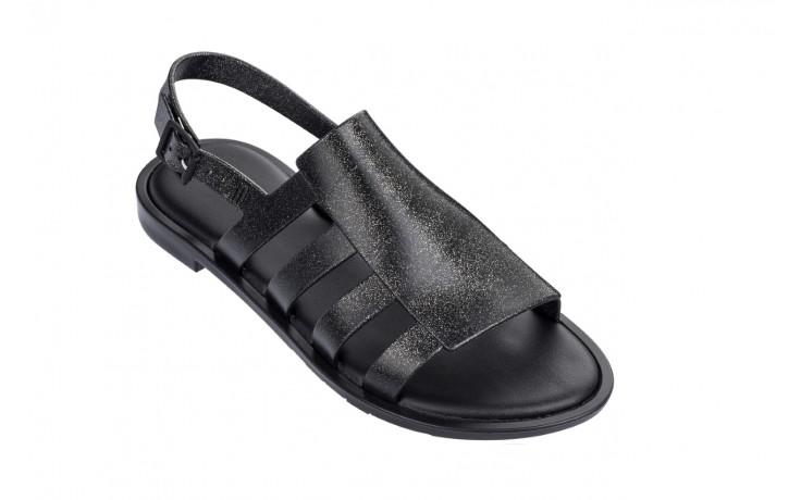 Sandały melissa boemia iii ad shine black glitter, czarny, guma - gumowe - sandały - buty damskie - kobieta 1