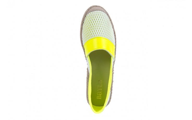 Espadryle bayla-115 104130 amarillo, żółty/ biały, materiał  - espadryle - dla niej  - sale 4