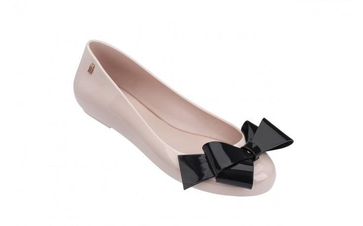 Baleriny melissa space love iv ad pink black 18 010246, róż/czarny, guma - melissa - nasze marki 1