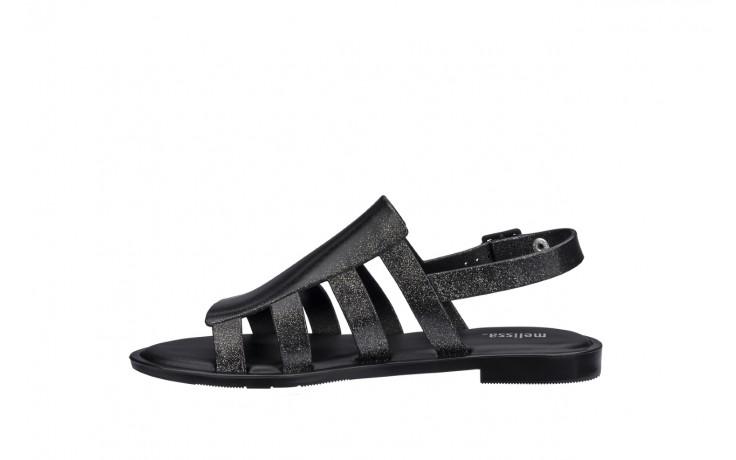 Sandały melissa boemia iii ad shine black glitter, czarny, guma - gumowe - sandały - buty damskie - kobieta 2