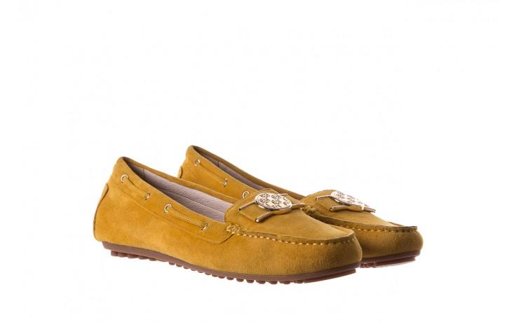 Mokasyny bayla-018 3173-335 yellow 018545, żółty, skóra naturalna  - bayla - nasze marki 1
