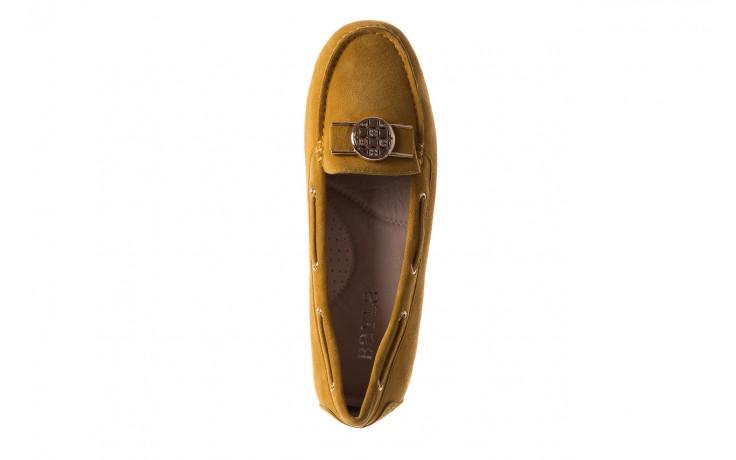 Mokasyny bayla-018 3173-335 yellow 018545, żółty, skóra naturalna  - bayla - nasze marki 4