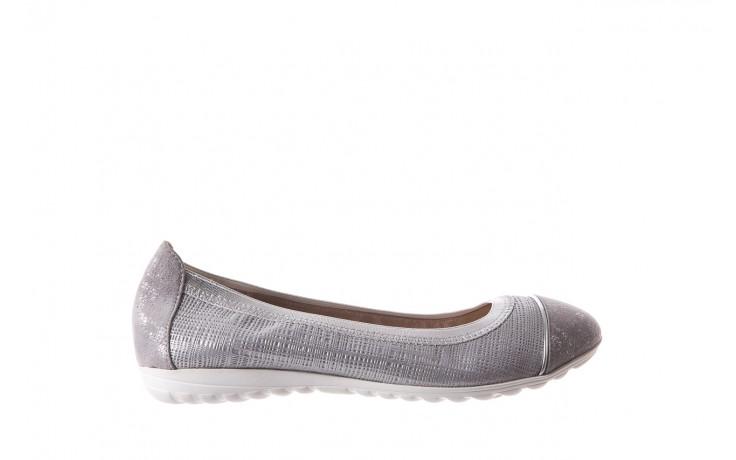Baleriny bayla-018 1831-5 lt. grey lt. grey silver 018533, szary/srebrny, skóra naturalna