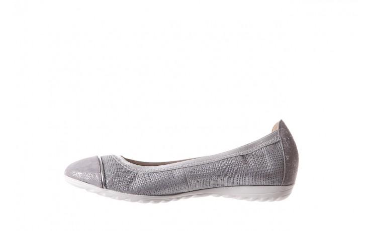 Baleriny bayla-018 1831-5 lt. grey lt. grey silver 018533, szary/srebrny, skóra naturalna 2