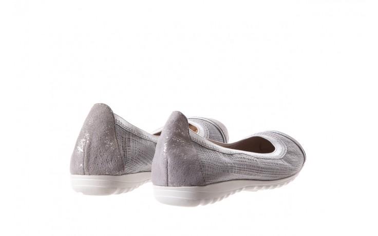 Baleriny bayla-018 1831-5 lt. grey lt. grey silver 018533, szary/srebrny, skóra naturalna 3