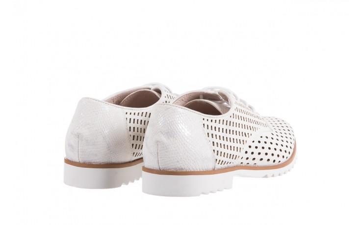 Półbuty bayla-018 1133-221 white silver 018505, biały/srebrny, skóra naturalna  - bayla - nasze marki 3